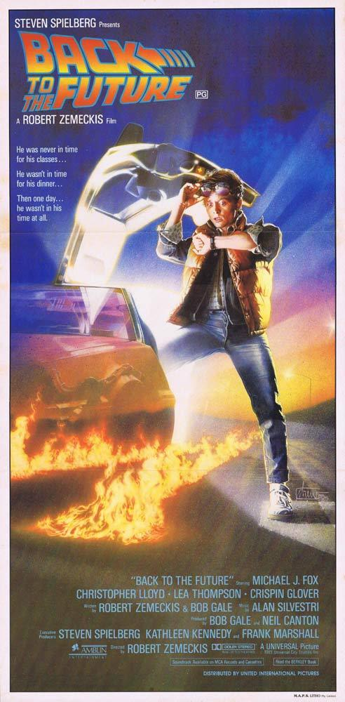Back to the Future, Robert Zemeckis, Michael J. Fox, Christopher Lloyd, Lea Thompson, Crispin Glover, Thomas F. Wilson, Marc McClure, Claudia Wells, James Tolkan, Wendie Jo Sperber, Huey Lewis, Billy Zane, J. J. Cohen, Harry Waters, Jr., Jason Marin, George DiCenzo, Frances Lee McCain, Donald Fullilove, Casey Siemaszko, Jason Hervey, Maia Brewton