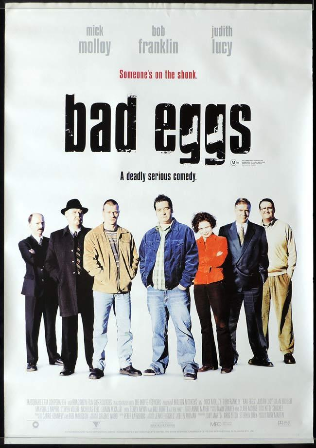 BAD EGGS One sheet Movie poster MICK MOLLOY Judith Lucy
