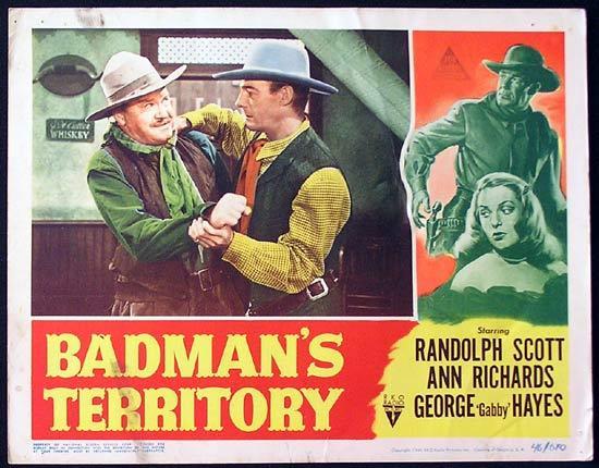 BADMANS TERRITORY 1946 Randoph Scott RKO Lobby Card 4