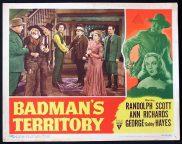 BADMANS TERRITORY 1946 Randoph Scott RKO Lobby Card 5