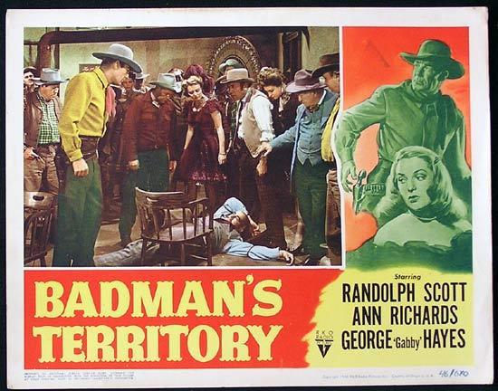 BADMANS TERRITORY 1946 Randoph Scott RKO Lobby Card 6