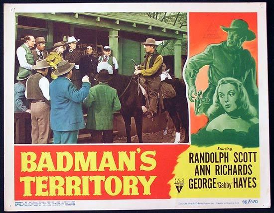 BADMANS TERRITORY 1946 Randoph Scott RKO Lobby Card 7