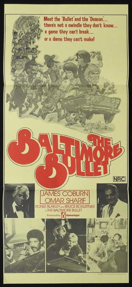 THE BALTIMORE BULLET Original Daybill Movie Poster JAMES COBURN Omar Sharif