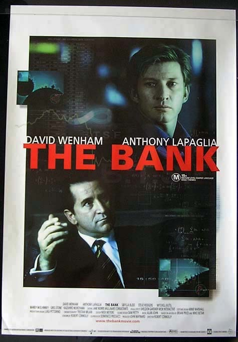 THE BANK Anthony LaPaglia David Wenham Movie Poster Australian One sheet