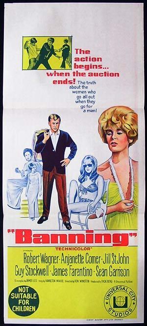 BANNING Daybill Movie poster Robert Wagner Jill St. John