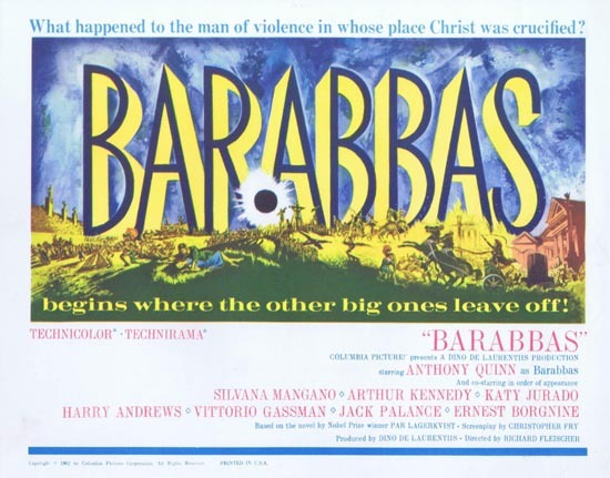 BARABBAS Title Lobby Card 1962 Anthony Quinn