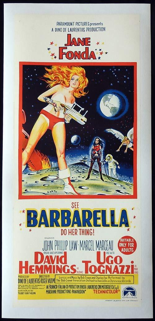 BARBARELLA Original Daybill Movie poster LINEN BACKED Jane Fonda