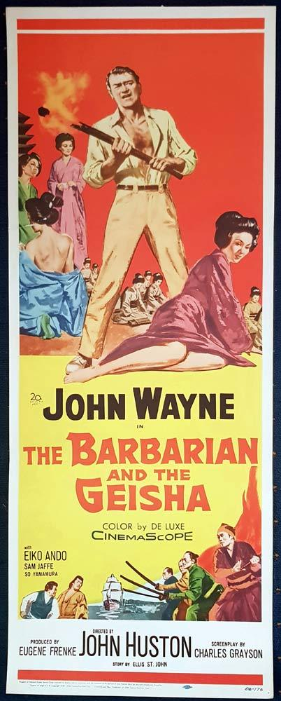 THE BARBARIAN AND THE GEISHA Original US Insert Movie Poster John Wayne