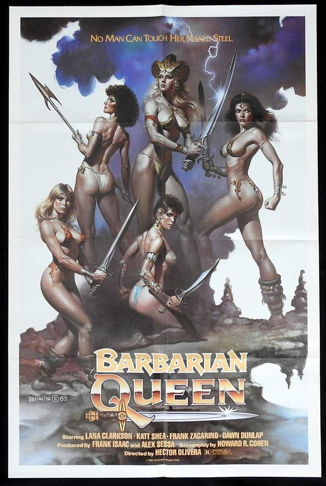 THE BARBARIAN QUEEN Original US One sheet Movie poster Boris Vallejo art