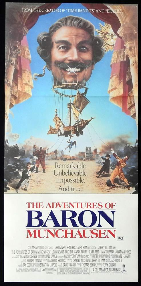 THE ADVENTURES OF BARON MUNCHAUSEN Original Daybill Movie Poster Terry Gilliam