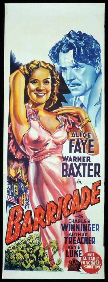 BARRICADE Long Daybill Movie Poster Alice Fay Warner Baxter