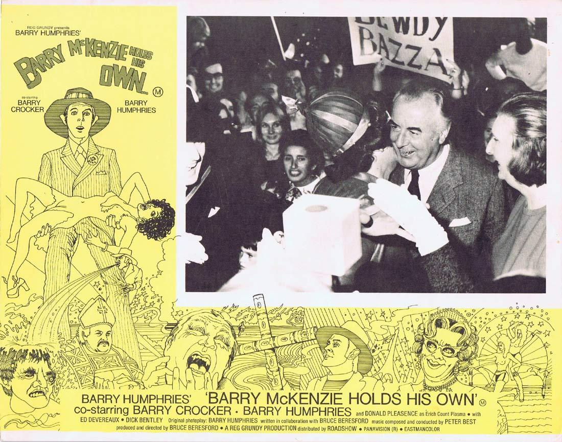 Barry McKenzie Holds His Own, Bruce Beresford, Barry Crocker, Barry Humphries, Donald Pleasence