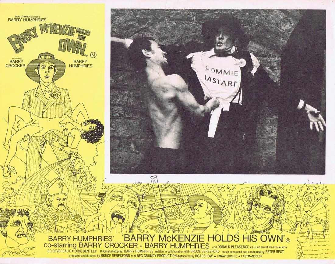 BARRY MCKENZIE HOLDS HIS OWN Original Lobby Card 7 Pommie Bastard