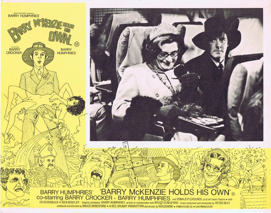 BARRY MCKENZIE HOLDS HIS OWN Original Lobby Card 3 Barry Crocker Barry Humphries