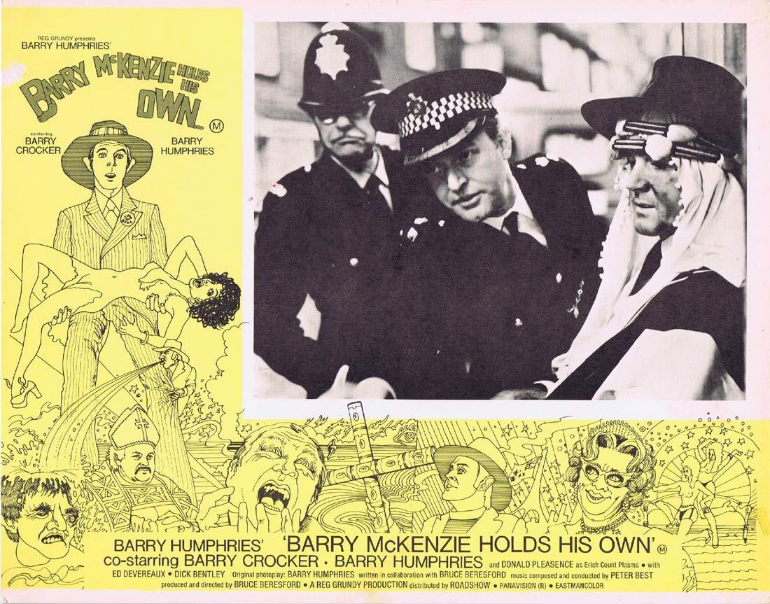 BARRY MCKENZIE HOLDS HIS OWN Original Lobby Card 4 Barry Crocker Barry Humphries