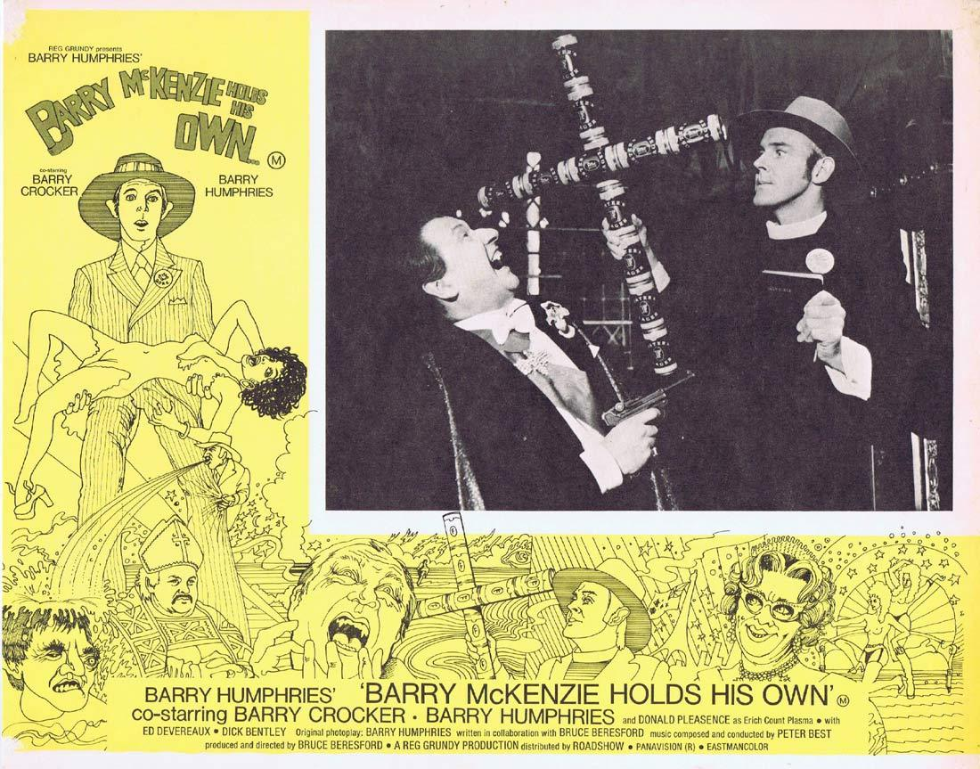BARRY MCKENZIE HOLDS HIS OWN Original Lobby Card 5 Barry Crocker Barry Humphries