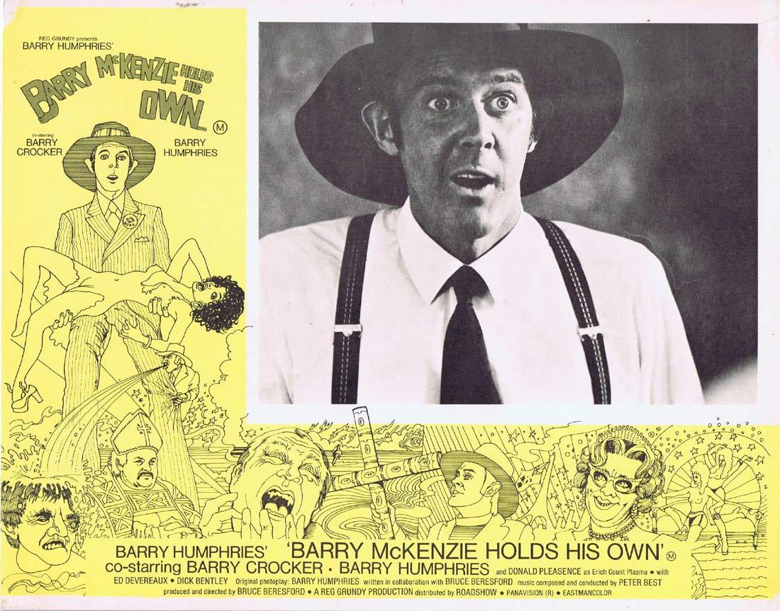 BARRY MCKENZIE HOLDS HIS OWN Original Lobby Card 6 Barry Crocker Barry Humphries