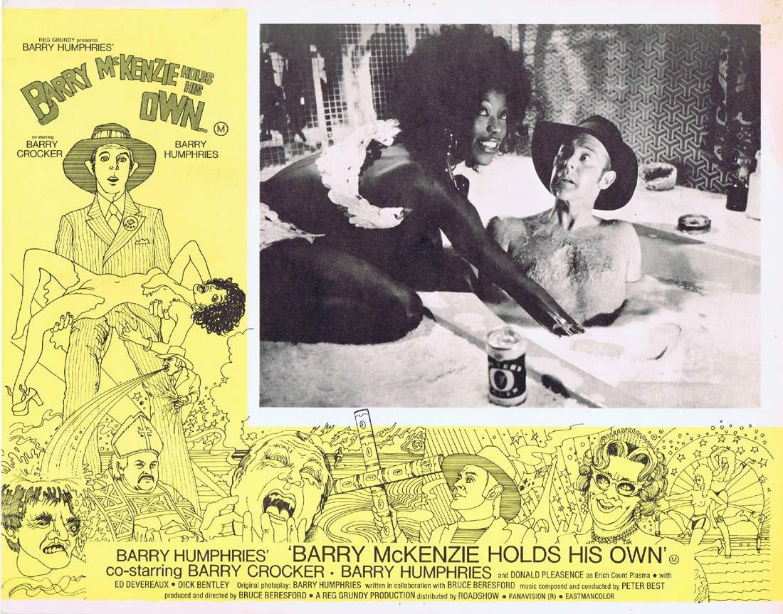 BARRY MCKENZIE HOLDS HIS OWN Original Lobby Card 8 Barry Crocker Barry Humphries