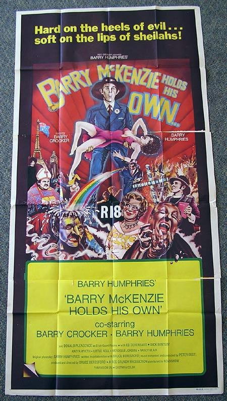 BARRY MCKENZIE HOLDS HIS OWN Movie Poster 74 Dame Edna BARRY HUMPHRIES 3 sheet