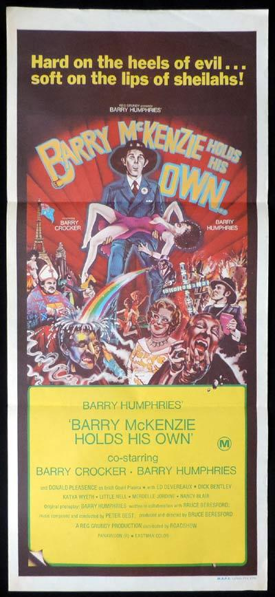 BARRY MCKENZIE HOLDS HIS OWN Daybill Movie poster Dame Edna BARRY HUMPHRIES