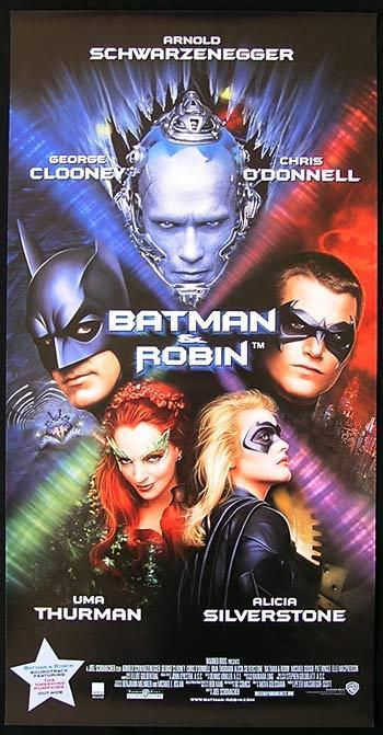 BATMAN AND ROBIN 1997 Schwarzenegger CLOONEY daybill poster