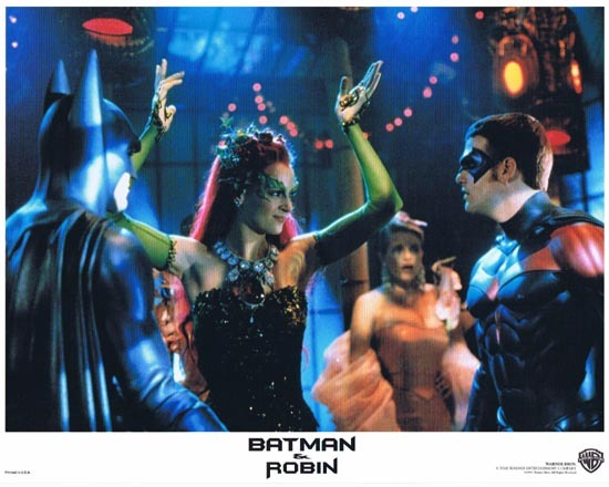 BATMAN AND ROBIN 1997 Lobby Card 1 Arnold Schwarzenegger George Clooney