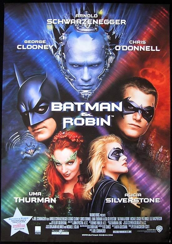 BATMAN & ROBIN Original Rolled One sheet Movie poster Arnold Schwarzenegger