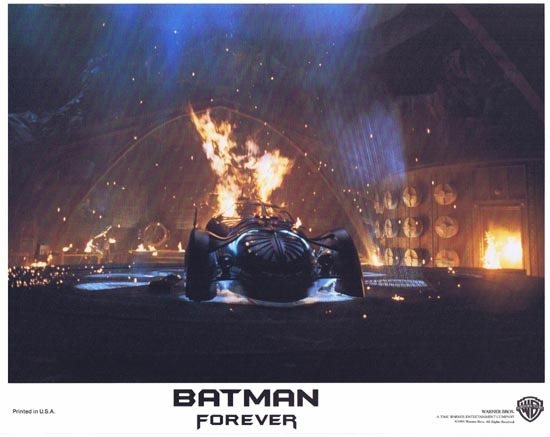 BATMAN FOREVER 1995 Val Kilmer Lobby Card 8 Batmobile
