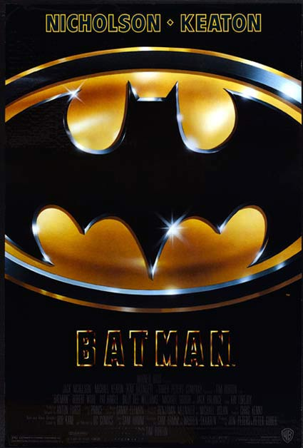 BATMAN Movie Poster 1989 Michael Keaton ORIGINAL US One Sheet