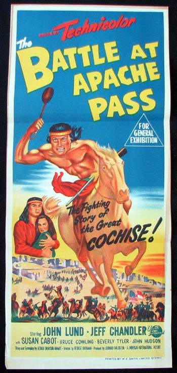 THE BATTLE AT APACHE PASS Movie poster John Lund Jeff Chandler