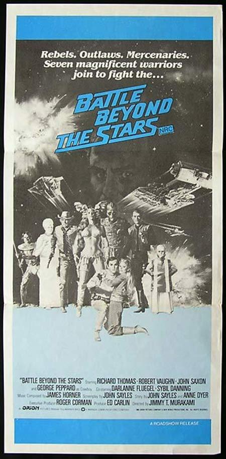 BATTLE BEYOND THE STARS Original Daybill Movie Poster  Roger Corman Sci Fi