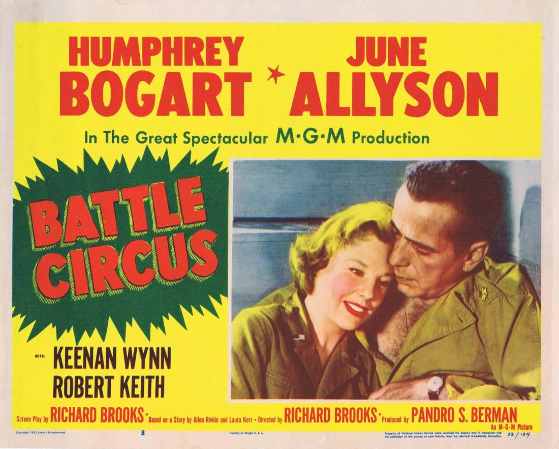 BATTLE CIRCUS Original Lobby Card 8 Humphrey Bogart June Allyson