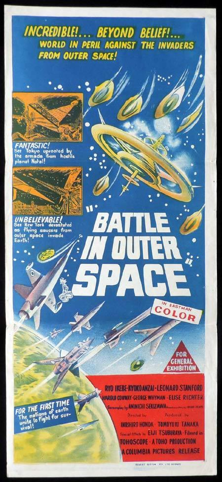 BATTLE IN OUTER SPACE Daybill Movie poster Alien Invasion Ishiro Honda