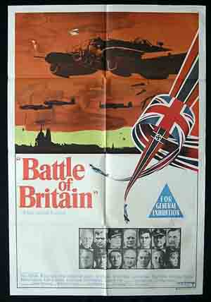 BATTLE OF BRITAIN '69 Michael Caine RARE Movie poster