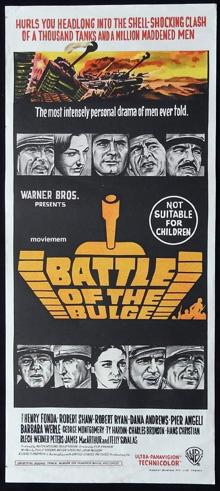 BATTLE OF THE BULGE Original Daybill Movie Poster Henry Fonda Robert Shaw
