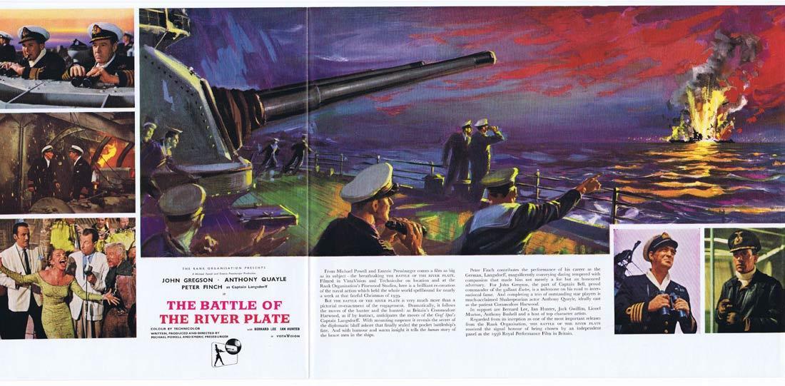 BATTLE OF THE RIVER PLATE Original Movie Trade Ad John Gregson