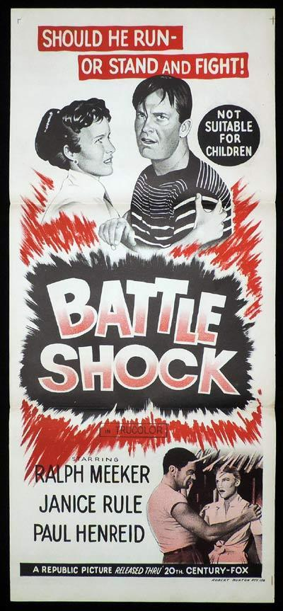 BATTLE SHOCK aka A WOMAN'S DEVOTION Daybill Movie Poster Ralph Meeker