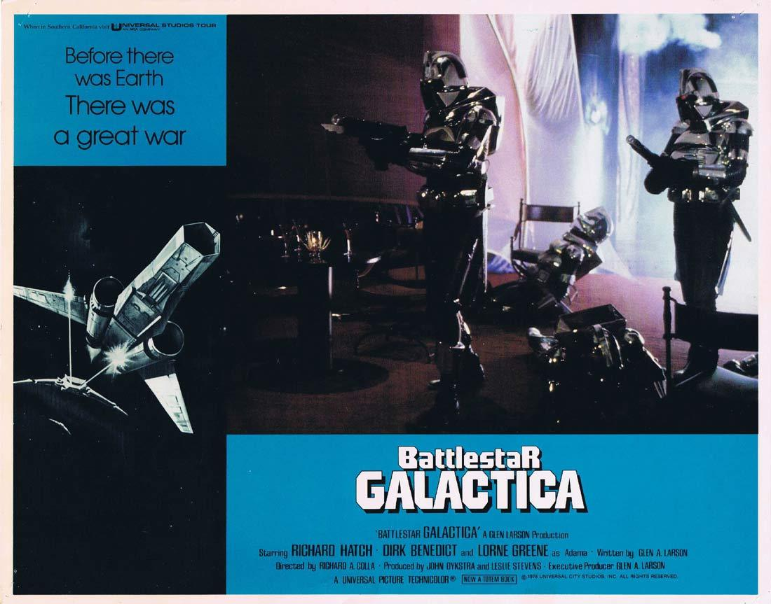 BATTLESTAR GALACTICA Original Lobby Card 5 Richard Hatch Lorne Greene Sci Fi