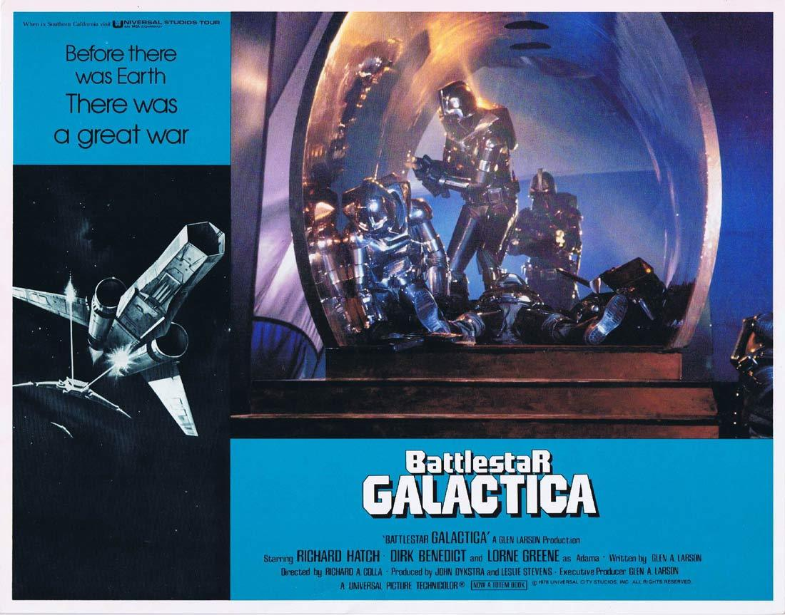 BATTLESTAR GALACTICA Original Lobby Card 6 Richard Hatch Lorne Greene Sci Fi