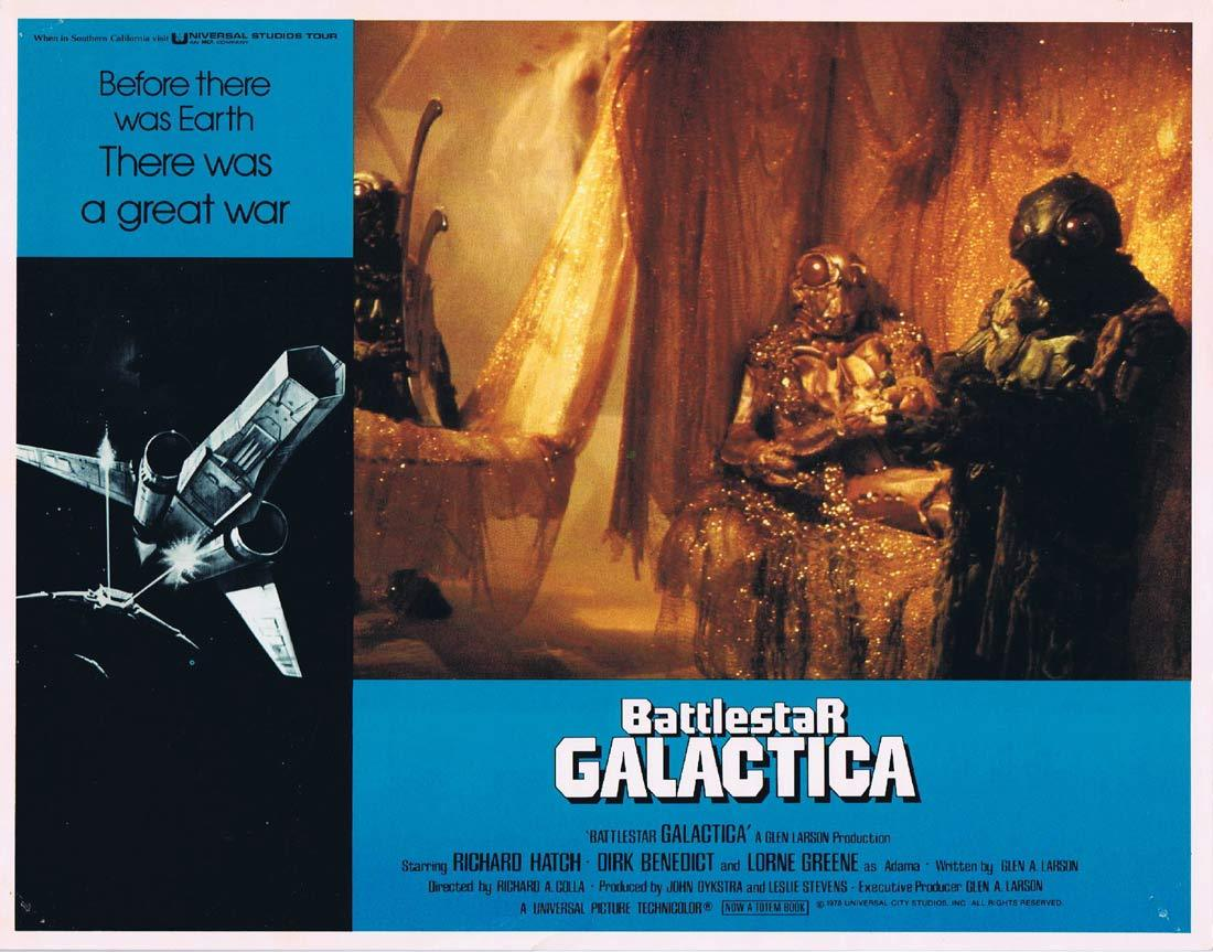 BATTLESTAR GALACTICA Original Lobby Card 7 Richard Hatch Lorne Greene Sci Fi