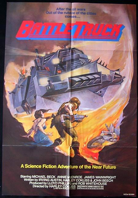 BATTLE TRUCK 1982 New Zealand Cinema US One sheet Movie poster