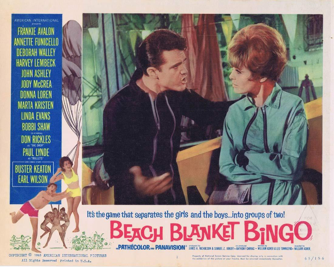 BEACH BLANKET BINGO Original Lobby Card 1 Frankie Avalon Annette Funicello