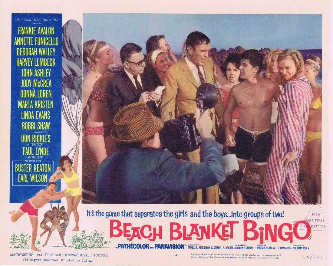 BEACH BLANKET BINGO Original Lobby Card 4 Frankie Avalon Annette Funicello
