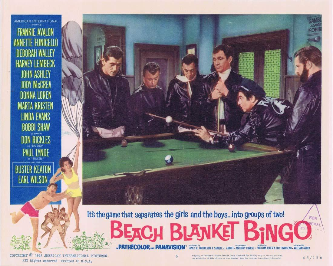 BEACH BLANKET BINGO Original Lobby Card 5 Frankie Avalon Annette Funicello