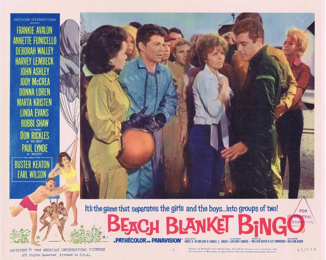 BEACH BLANKET BINGO Original Lobby Card 8 Frankie Avalon Annette Funicello