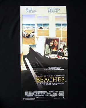 BEACHES Daybill Movie Poster BETTE MIDLER