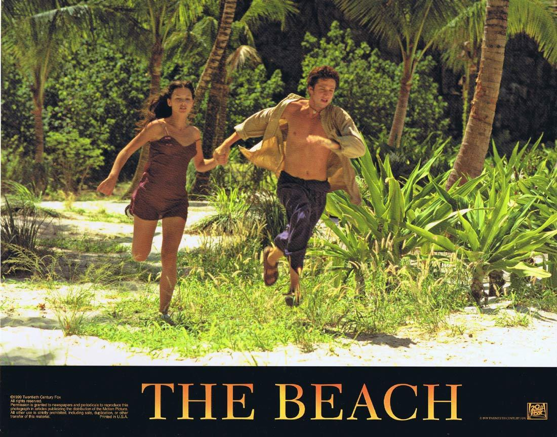 THE BEACH Original Lobby Card 1 Leonardo DiCaprio Danny Boyle
