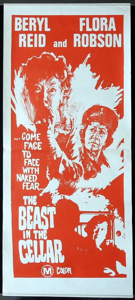 THE BEAST IN THE CELLAR Original Daybill Movie poster Beryl Reid Flora Robson