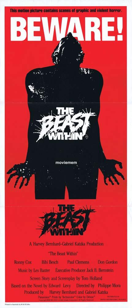 THE BEAST WITHIN Original Daybill Movie poster Philippe Mora Horror