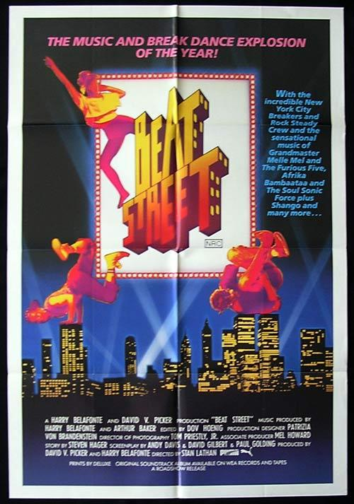 BEAT STREET Original One sheet Movie poster Rae Dawn Chong Breakdance